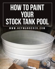 How to create a longer lasting stock tank pool and paint it the right way. Hint: Spray paint is the Pool Diy, Diy Swimming Pool, Stock Pools, Stock Tank Pool, Pool Paint, Sweet Home, Small Pools, Plunge Pool, Pool Cleaning
