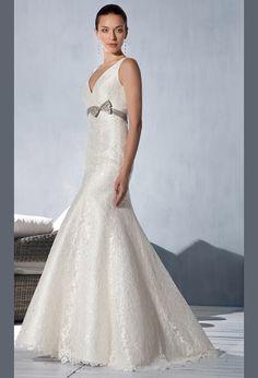 Силуэтное свадебное платье русалка из кружева | Silhouette mermaid wedding dress lace