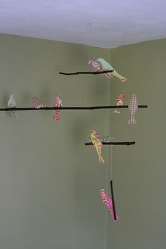 bird mobile 3 by drago[knit]fly, via Flickr