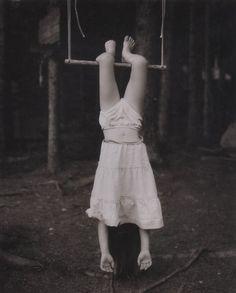 upside down girl having fun
