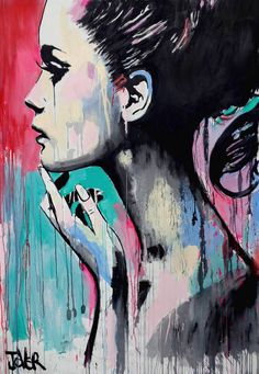 Buy Prints of perhaps again, a Acrylic on Canvas by LOUI JOVER from Australia. It portrays: Women, relevant to: painting, Pop art, loui jover, contemporary, drawing, latest, new acrylic and house paints on unstretched primed cotton weaved sheet - this work is sent rolled and ready for stretching by a framer - there is approx 10 cm of extra material to allow for stretching (please refer to other picture included) - the measurements given below are for the image itself once stretched.