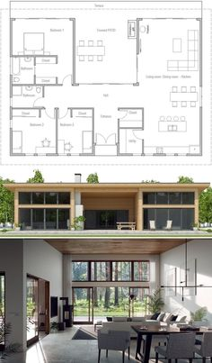 House Plan Floor Plans Home Plans House Designs homeplans housedesigns newhomes architecture arc House Plans One Story, New House Plans, Dream House Plans, Small House Plans, House Floor Plans, Modern Bungalow House Plans, Three Bedroom House Plan, Bungalow House Design, Modern Architecture House