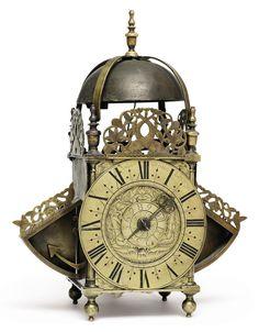 date unspecified A SCOTTISH BRASS STRIKING LANTERN CLOCK WITH ALARM   ANDREW BROUN (BROWN), EDINBURGH. LAST QUARTER 17TH CENTURY   Price realised   GBP 6,875