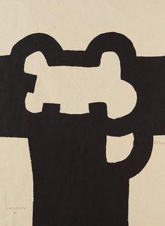 """Eduardo Chillida  Serigrafía  """"Fundació Joan Miró""""  1985  70 x 50 cm  Tirada de 100 ejemplares  Numerada y firmada a mano  Van der Koelen nº 85011  Precio: 4.500 euros"""