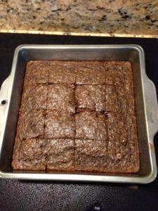 Clean Chocolate Protein Bars.  Oat flour, Cocoa, Baking Soda, Cinnamon, Protein Powder, Banana, Egg Whites, Water.