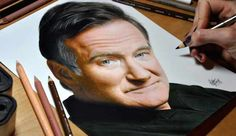 Photorealistic Drawing Of Robin Williams