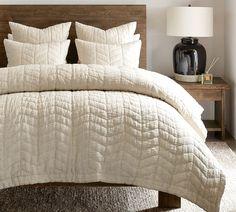 Cream Bedding, Cotton Bedding, White Quilt Bedding, Neutral Bedding, Chic Bedding, Bedding Master Bedroom, Bedroom Decor, Bedroom Suites, Bedroom Inspo