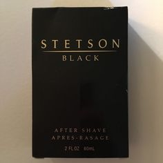 Stetson Black Aftershave Liquid for Men by Coty 2 0 Ounce 60 ml Splash | eBay