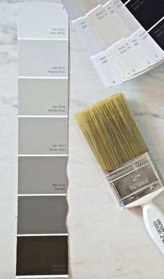 Sherwin Williams Repose Gray and Mindful Gray.