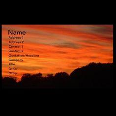 Orange Sky Landscape Business Card by janislil