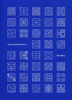 """imaroadrunner: """" Ben Barry, One Hundred Patterns, Particular Intent, 2015Design…"""
