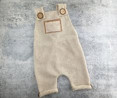 Sitter Boy Prop Outfit - 9-12 month Beige Ivory Overall Romper - Photo Prop - READY TO SHIP by wrenandwillowdesigns on Etsy