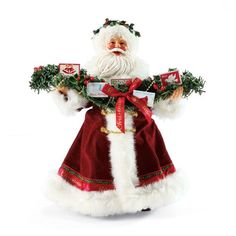 Department 56 Possible Dreams Santas Garland of Greetings Santa Figurine -- Be sure to check out this awesome product.