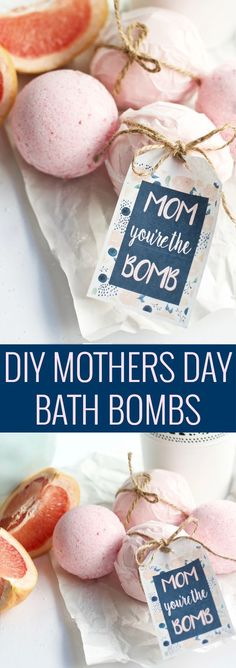 DIY Mothers Day Bath Bombs with Free Printable. Pink grapefruit bath bombs are a easy and quick gift to make. for mom diy DIY Mothers Day Bath Bombs with Free Printable - Sincerely Jean Diy Gifts For Mothers, Mothers Day Decor, Mothers Day Crafts For Kids, Mothers Day Presents, Diy For Kids, Mother Day Gifts, Mom Gifts, Happy Mothers, Diy Mother's Day Crafts