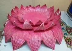18 Trendy Flowers Crafts Giant flowers is part of Ganesh chaturthi decoration - Gauri Decoration, Thali Decoration Ideas, Ganpati Decoration At Home, Diwali Decorations, Flower Decorations, Giant Flowers, Paper Flowers, Ganesha, Ganesh Chaturthi Decoration