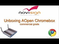 AOpen Chromebox unboxing - Chrome OS player for digital signage