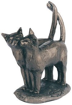 #'two's company' bronze cat #kitten sculpture paul jenkins - #frith ,  View more on the LINK: http://www.zeppy.io/product/gb/2/170930406264/