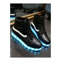 347c903b5f0 Stylish Led Luminous and High Top Design Sneakers For Women ( 31) ❤ liked on