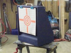My next project to build with Eric for some 1:1 time. Will teach him to use circular saw. Airsoft Gun Target Holder & BBCatch