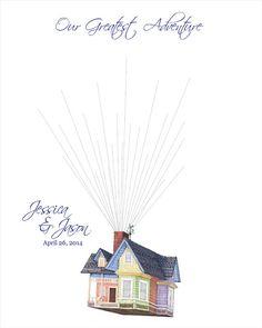 Unique Wedding Guest Book Custom Wedding Gift by fancyprints