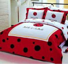 I wonder ... am I too old for a kickbutt LADYBUG bedroom!!??!!