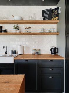Kuchnia - projekt NYLOFT — HOUSE LOVES Double Vanity, Kitchen Cabinets, Home Decor, Decoration Home, Room Decor, Kitchen Cupboards, Interior Design, Home Interiors, Kitchen Shelves