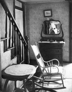 Interiors with mirrors by Walker Evans