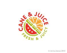 Cane and Juice Logo Inspiration Gallery | More logos http://blog.logoswish.com/category/logo-inspiration-gallery/ #logo #design #inspiration