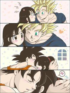 Goku & Chichi- Awww this is cute <3