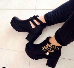 Imagem de fashion, shoes, and black