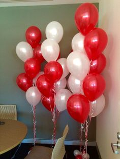 Image result for red and white color balloons