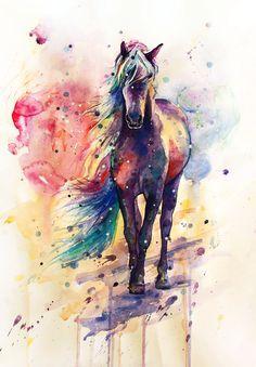 Arte   caballo + colores = perfecta combinación.