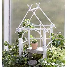 Fairy Garden Wildewood Gazebo Miniature - x NOT A TOY – Miniatures are small items that pose potential choking hazards to small children. Any accessories pictured are not included, for il -Garden Gazebo Ideas- Mini Fairy Garden, Fairy Garden Houses, Fairies Garden, Fairy Gardening, White Gazebo, Fairy Crafts, Garden Gazebo, Fairy Furniture, Mini Plants
