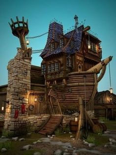 Pirate Ship house...ok...I want to live here...