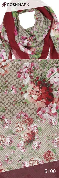 Gucci Bloom Scarf Beautiful scarf, NEW! Never worn and ready to ship ASAP. Item is slightly varied from photo.  Accepting offers. $ reflects Gucci Accessories Scarves & Wraps