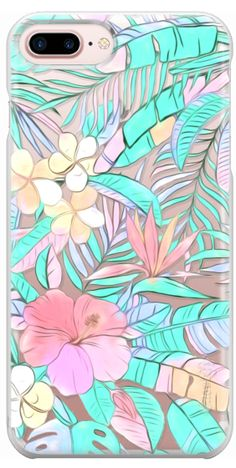 Casetify Protective iPhone 7 Plus Case and iPhone 7 Cases. Other Floral iPhone Covers - Pastel Island Hibiscus by Micklyn Le Feuvre Casetify