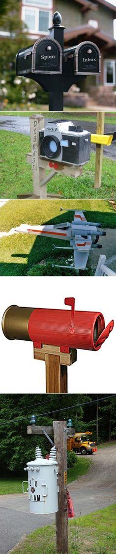 DIY Geeky Mailboxes