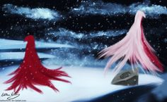"""""""The petals scattered now"""" Ruby Rose and Summer Rose"""