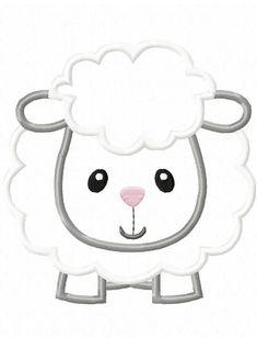 Sheep Applique Design por JazzyZebraDesigns en Etsy