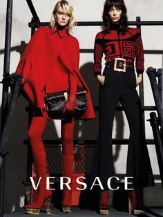Versace red and black