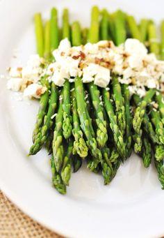 Easter Menu Ideas: Asparagus with Vinaigrette, Feta, Parmesan & Almonds Recipe — Savor The Thyme - Food, Family and Lifestyle