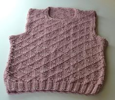 Knit a Fancy Top for Kids with Diamond Brocade