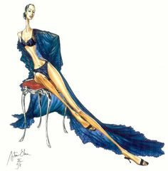 Arturo Elena Fashion illustration.