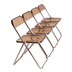 Plia Folding Chairs Designed In 1967 By Giancarlo Piretti For Castelli.  These Chairs Are Light