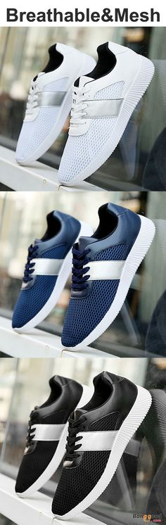 US$29.66+Free shipping. Men Shoes, Mesh Shoes, Lace-up, Breathable, Color: Black, White, Blue. Shop now~
