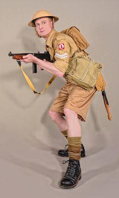 Military - uniform British soldier desert - 02 by MazUsKarL on DeviantArt British Army Uniform, British Uniforms, Ww2 Uniforms, British Soldier, Military Uniforms, Military Diorama, Military Art, Military History, Military Soldier