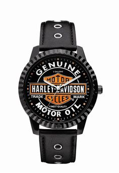 Mens Harley Davidson Oil Can Logo Watch by Bulova 78A107