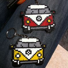 VW T1 van keyring hama mini beads by alr742 @Meredith Towns