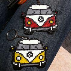 VW T1 van keyring hama mini beads by alr742