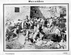 Shearing sheep in Metsovo - 1915